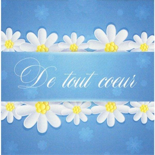 Greeting Card 'De tout Coeur'