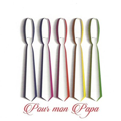 Grußkarte 'Pour mon Papa'