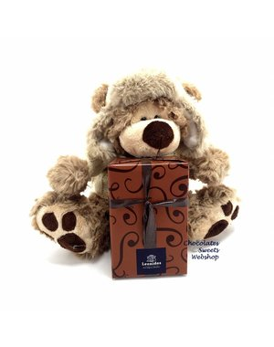 Leonidas 300g chocolates and Teddy bear Dommel (20cm)