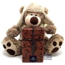 Leonidas 500 g Pralinen und Teddybär Dommel (25cm)
