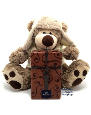 Leonidas 500g chocolates and Teddy bear Dommel (25cm)