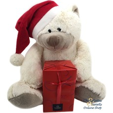 Kerstbeer (30cm) met 500g feestballetjes