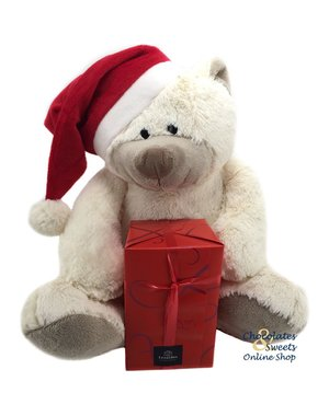 Christmas bear (30cm) with 500g Party balls