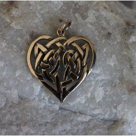 Celtic heart, bronze