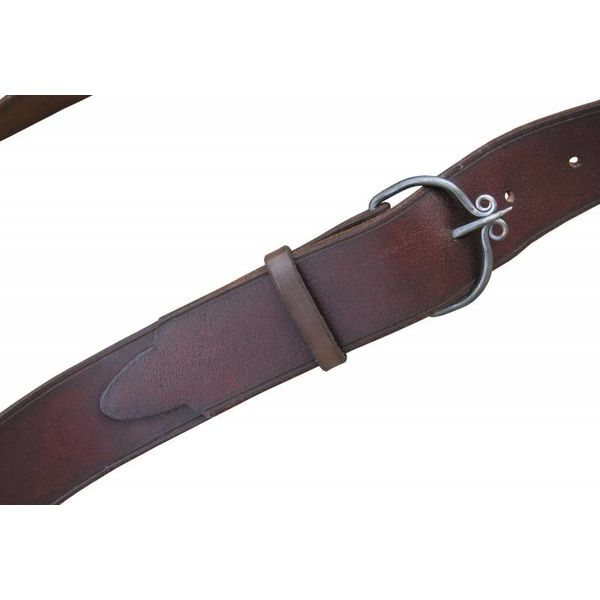 Baldric with hand-forged buckles