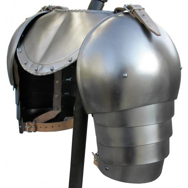 15th century gorget with arm harness