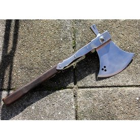 Axe with hammer and spikes