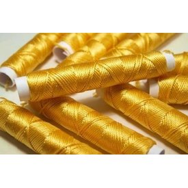 Silk thread golden yellow, 10 m