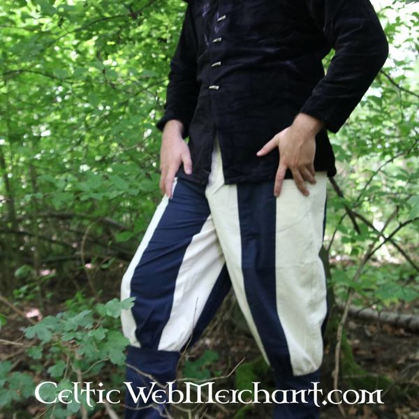 16th century Tudor trousers blue-natural