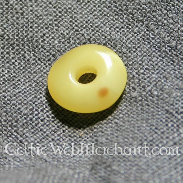 Amber donut-shaped bead