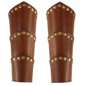 Leather vambraces Victor, brown