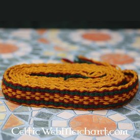 Woollen belt, red - yellow - green