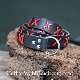 House of Warfare Luxurious ring belt black-red