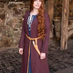 Birka cloak Siggi, burgundy grey