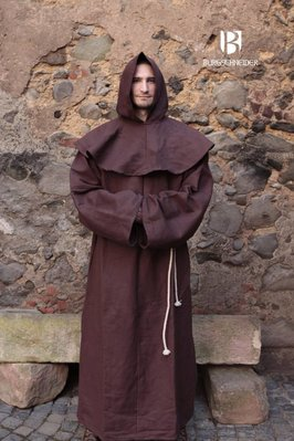 Medieval monk cowls