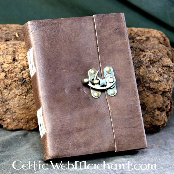House of Warfare Leather hand-bound book with lock