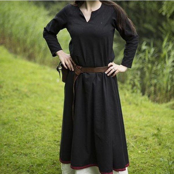 Epic Armoury Basic Dress, black/dark red
