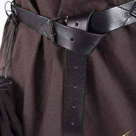 Epic Armoury Leather X-belt, black