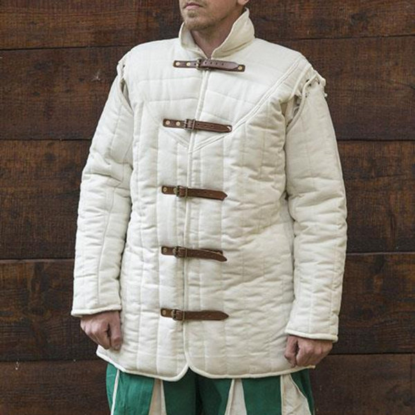 Epic Armoury Medieval belt gambeson natural