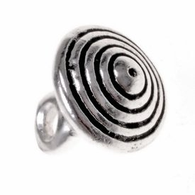 15th century pewter button with grooves, set of 5