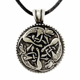 Pewter wild hunt pendant, silvered