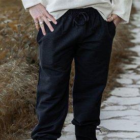 Leonardo Carbone Cotton trousers, black