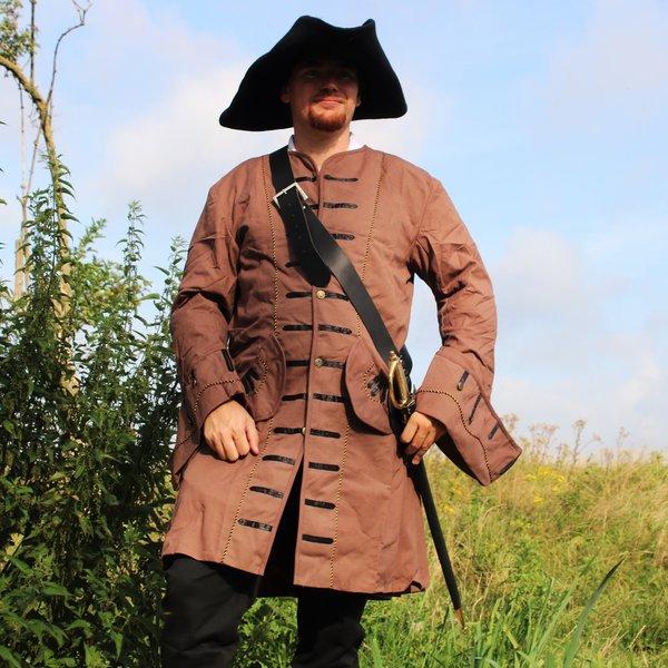 Leonardo Carbone 17th century Buccaneer coat, brown
