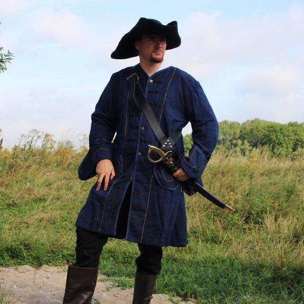 Leonardo Carbone 17th century Buccaneer coat, blue