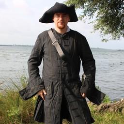 17th century Buccaneer coat, black