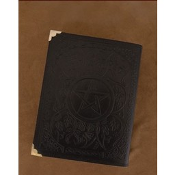 Black Leather book with Pentagram