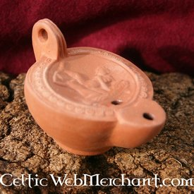 Roman oil lamp with erotic motive