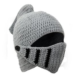 Knitted knight helmet