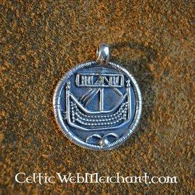 Birka coin pendant silver