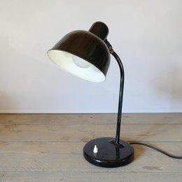 Vintage WILA - bureaulamp - ZWART