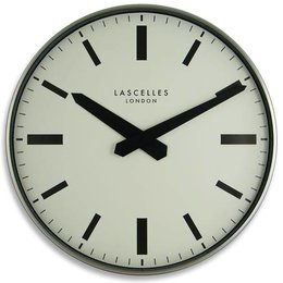 Lacelles Station clock - Silver