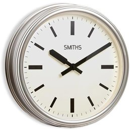 Smiths Stationsklok - Zilver
