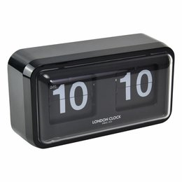London clock Bosker Black Case Flip Clock