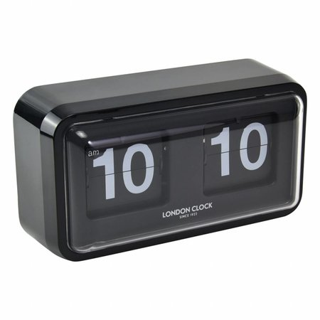London clock Bosker Black Case Flip Clock