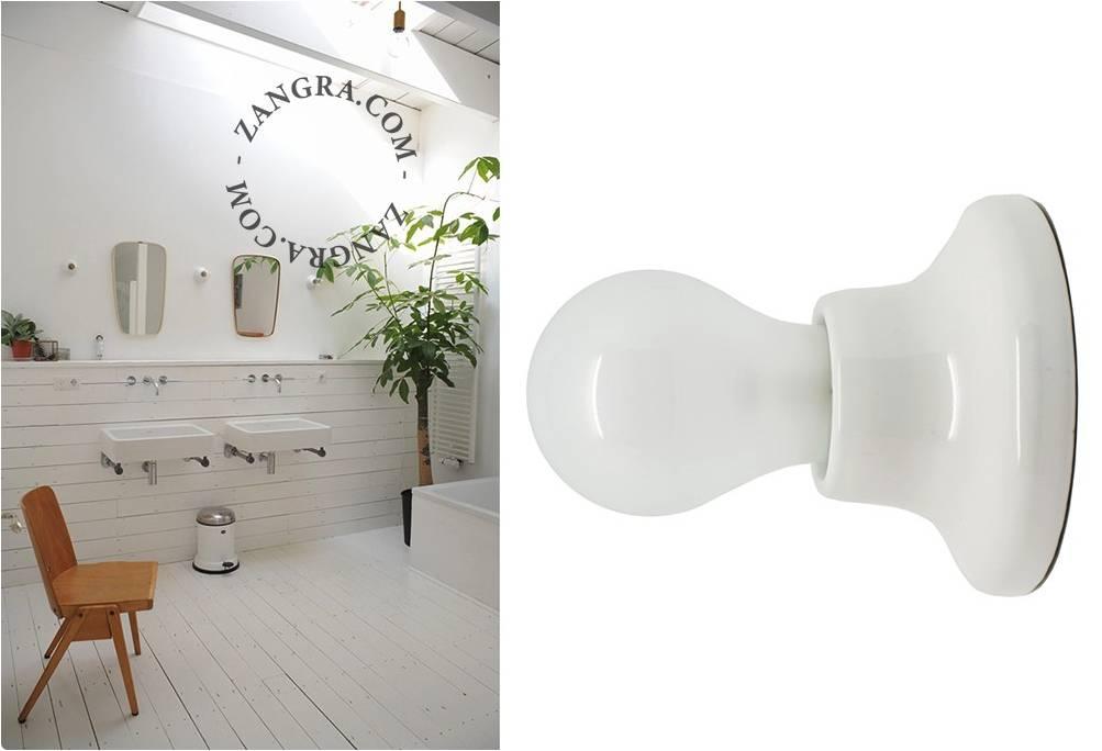 Ceiling Lamp White Porcelain Duurk