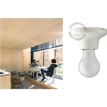 Zangra Ceiling lamp - white - porcelain