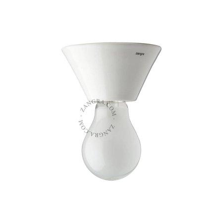 Zangra Ceiling lamp - Puur porcelain white