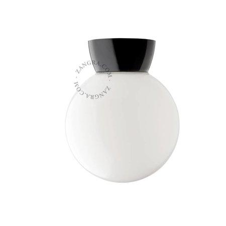 Zangra Plafondlamp - zwart bakeliet