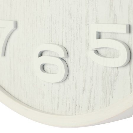 NeXtime Wandklok-Wood Wood Medium-35 cm-Wit