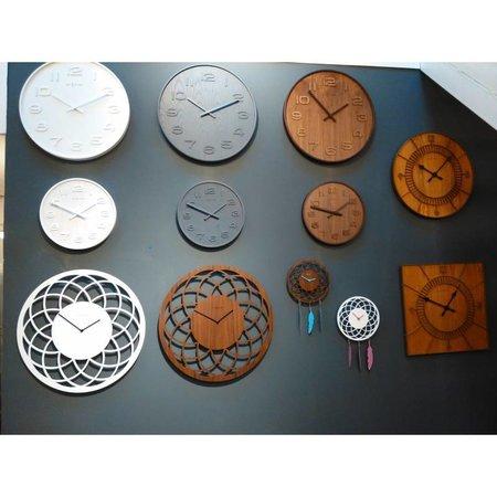 NeXtime Wandklok-Wood Wood Medium-35 cm-Bruin