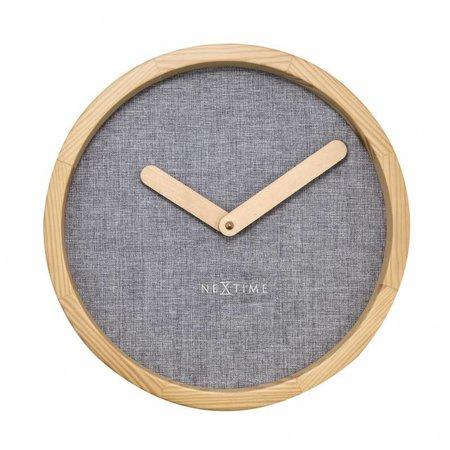 NeXtime Wandklok-Calm Grey-30 cm-Grijs