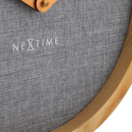 NeXtime Wall clock-Calm Grey-30 cm