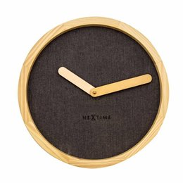 NeXtime Wandklok-Calm Brown-30 cm-Bruin