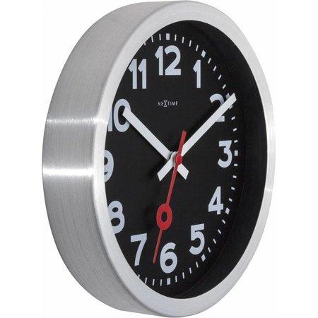 NeXtime Station clock-35 cm-Steel