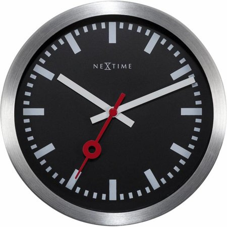 NeXtime Station clock-19 cm-Steel