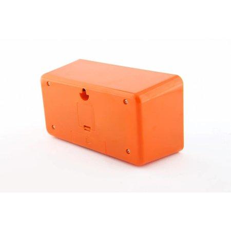 NeXtime Mantelklok-Flipklok-Flipped-Oranje